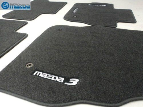 mazda 3 2010 2013 new oem black carpeted floor mats 0000. Black Bedroom Furniture Sets. Home Design Ideas