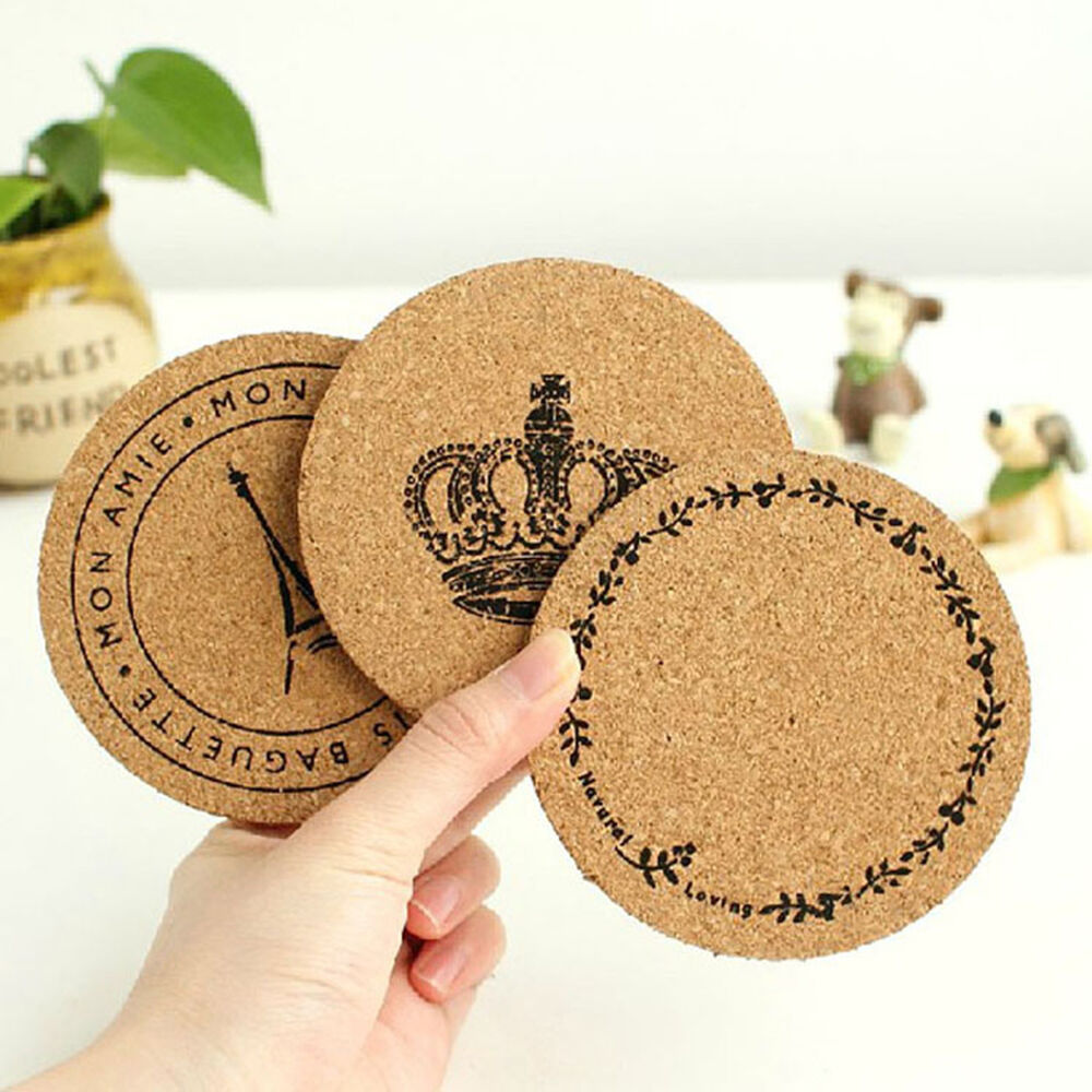 Cork Wood Drink Coaster Tea Coffee Cup Mat Pad Kitchen
