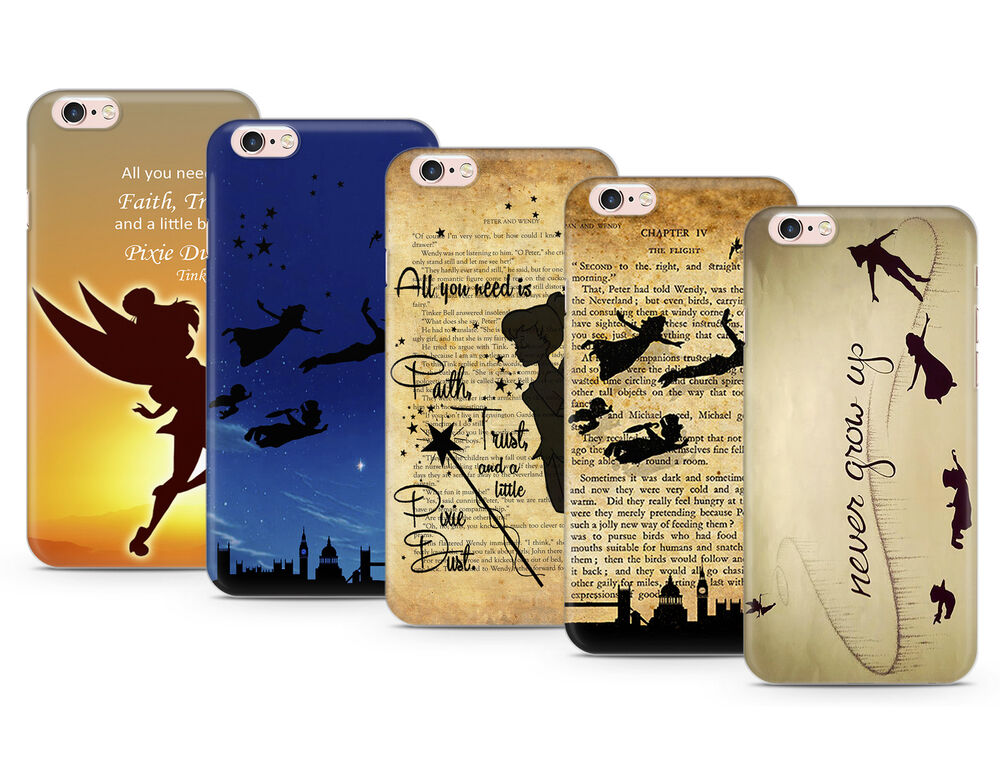 PETER PAN TINKERBELL DISNEY DESIGN QUOTES GEL CASE COVER FOR IPHONE ...