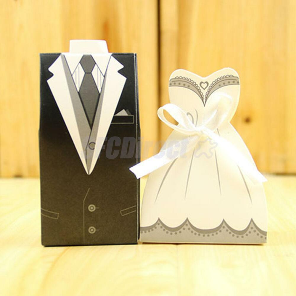 50pcs candy gift paper boxes in wedding dress design party for Acid free cardboard box for wedding dress