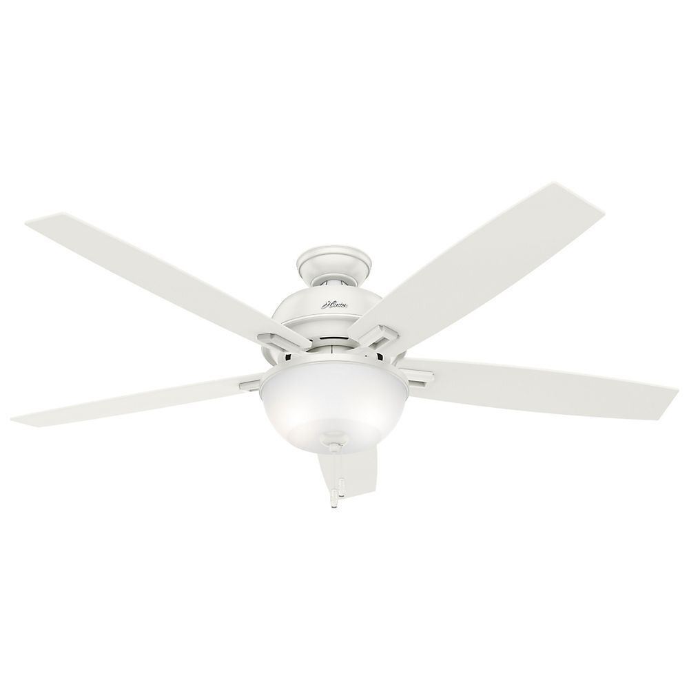 hunter 60 donegan fresh white ceiling fan with light ebay. Black Bedroom Furniture Sets. Home Design Ideas