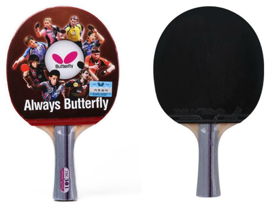 Long Handle Butterfly Table Tennis Tbc 301 Racket Paddle Bat Ping Pong W Pouch Ebay