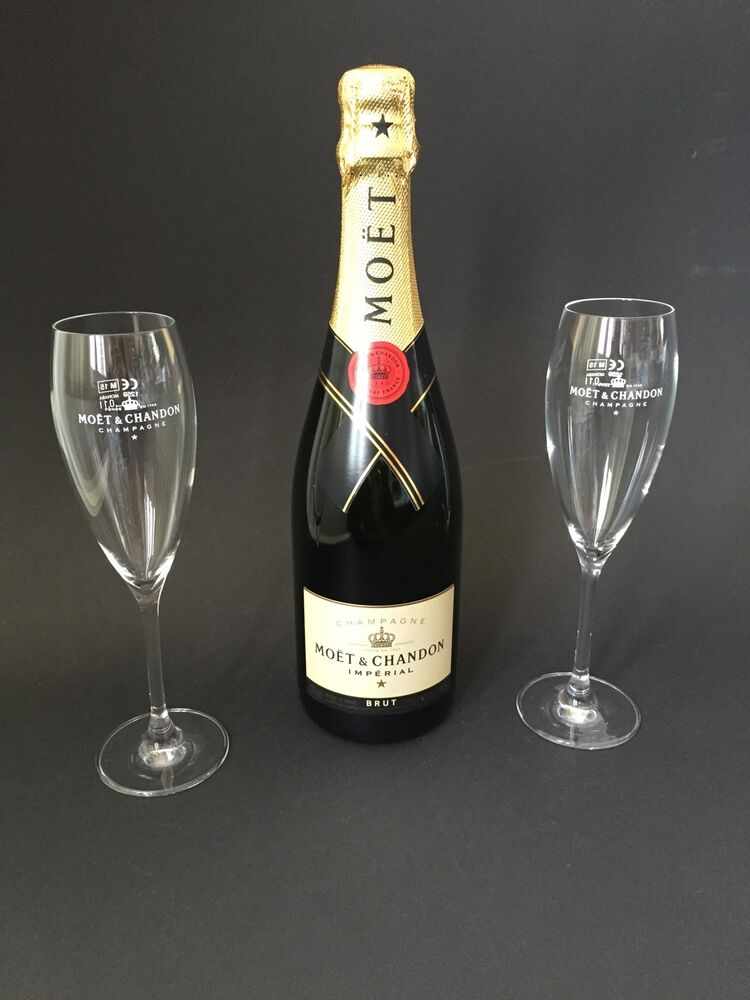 moet chandon imperial champagner flasche 0 75l 12 vol 2 mo t champagne gl ser ebay. Black Bedroom Furniture Sets. Home Design Ideas