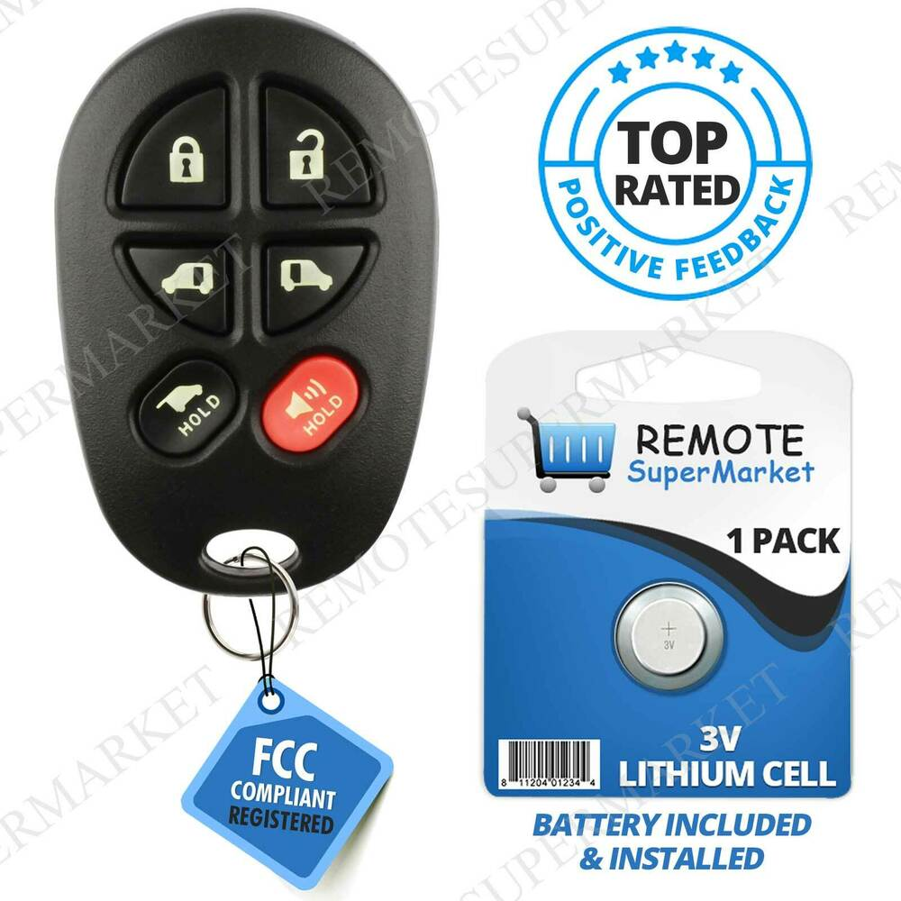 Replacement For Toyota 2004-2016 Sienna Remote Car Key Fob