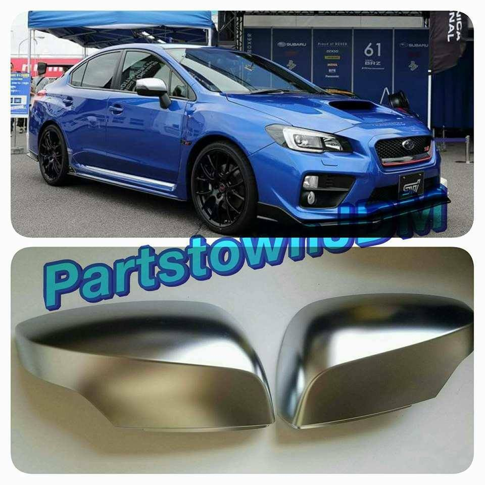 2015 2017 2018 subaru wrx sti genuine jdm oem s4 satin mirror cover cap va ebay. Black Bedroom Furniture Sets. Home Design Ideas
