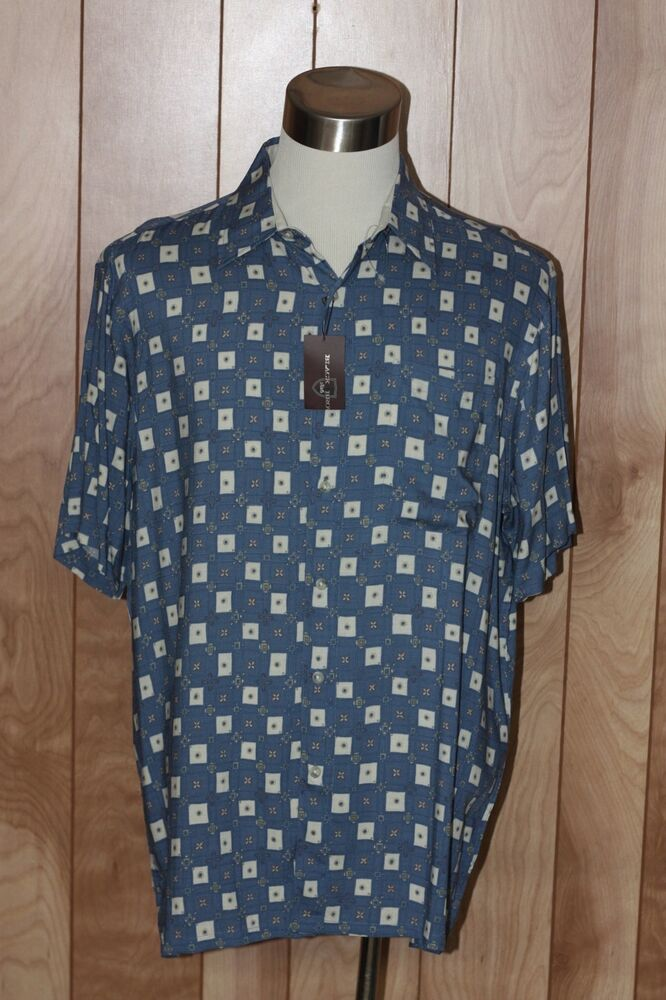 Men 39 s black brown button down shirt size xl ebay for Black brown mens shirts