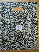 BLACK ANIMAL LEOPARD PRINT QUALITY FASHION CARRIER BAGS 40+PACK 25cmx25cm UKSELL
