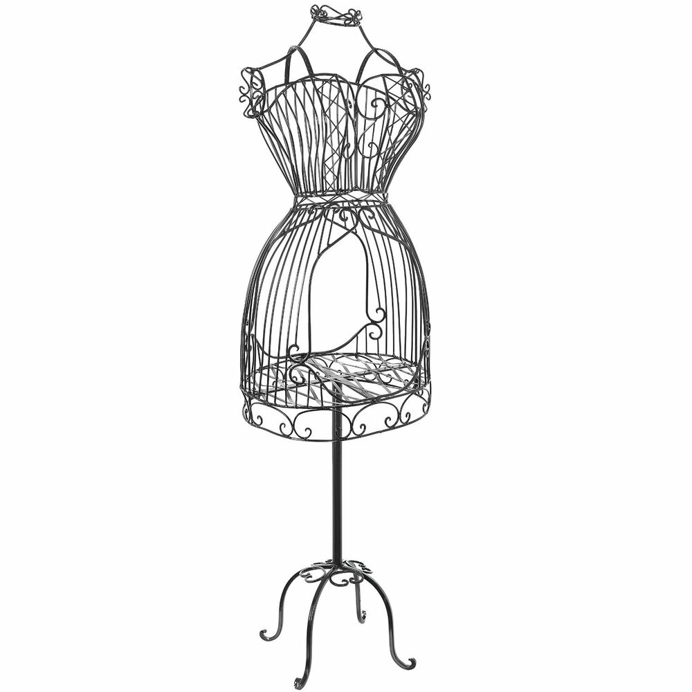 Vintage Style Metal Scrollwork Wire Frame Dress Form Display Mannequin Stand 57 Ebay
