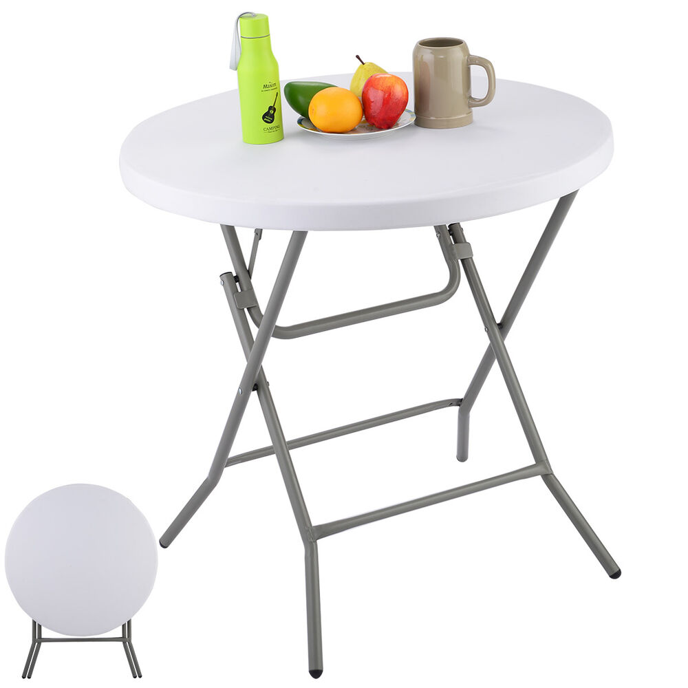 32 Plastic Folding Table Round Furniture Home Outdoor Camping Party Por