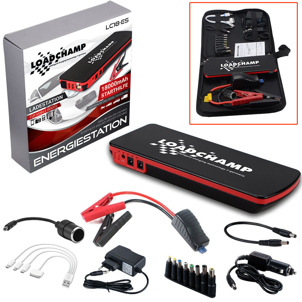 loadchamp 650a 12v mobile auto starthilfe ger t batterie ladeger t jumpstarter ebay. Black Bedroom Furniture Sets. Home Design Ideas