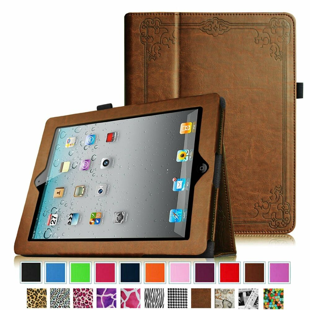 apple ipad 2 the new ipad 3 ipad 4 with retina display leather case cover ebay. Black Bedroom Furniture Sets. Home Design Ideas