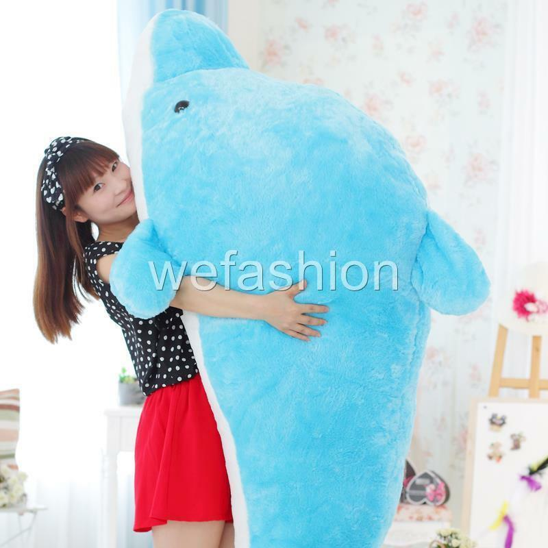 Giant Huge Dolphin Stuffed Animal Plush Soft Toy Pillow