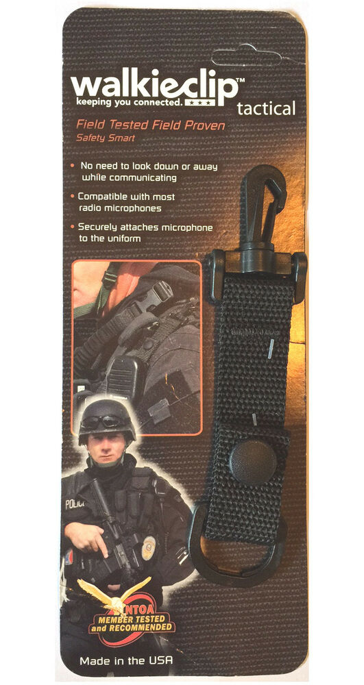 Police Radio Mic >> Tactical Mic Clip Speaker Mic Holder Shirt Clip Attachment Police/Fire/EMT Radio | eBay