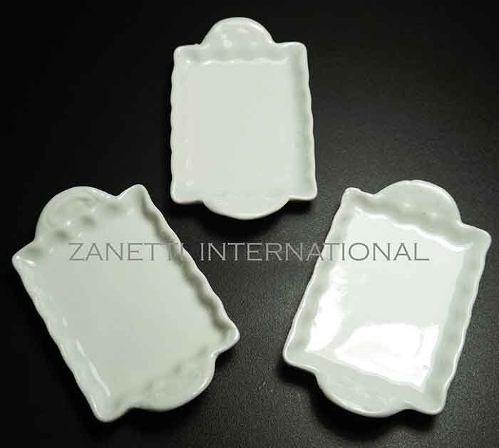 Set Of 3 Dollhouse Miniature Ceramic Trays / Plates *Doll
