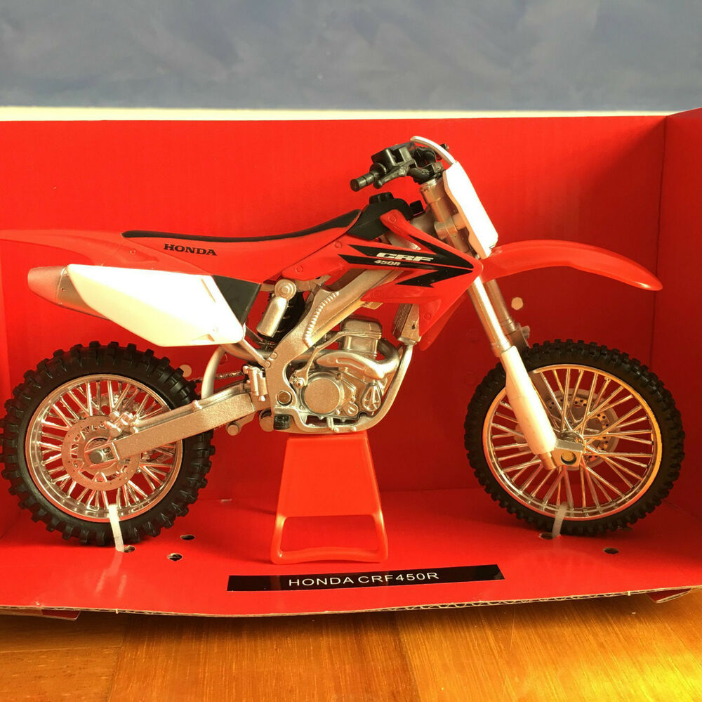 NewRay 112 Scale Die Cast Honda CRF450R Classic Collection Motorcycle Model