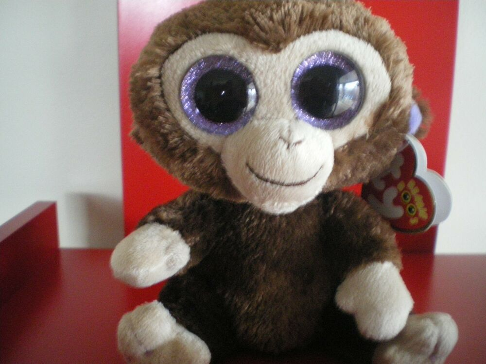 bc9f9bfda88 Details about Ty Beanie Boos Coconut the monkey 6 inch NWMT. IN STOCK NOW.