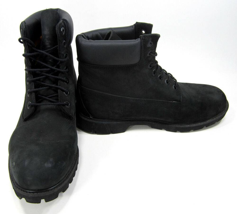 timberland boots 6 inch premium black shoes size 11 ebay