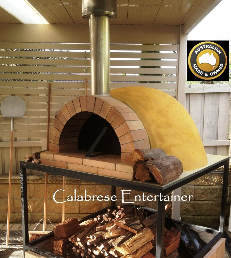 pizza oven dome outdoor woodfired wood fired diy kit uncasted commercial ebay. Black Bedroom Furniture Sets. Home Design Ideas