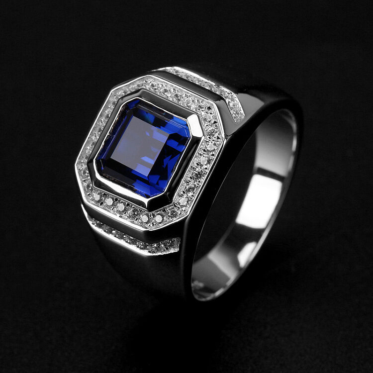 wedding rings on ebay brand fashion men 2ct sapphire cz 925 silver engagement 1053