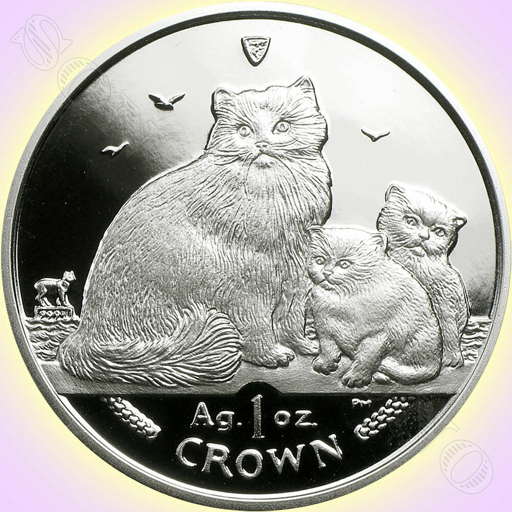 2007 Isle Of Man Ragdoll Cat Coin 1 Oz 999 Silver
