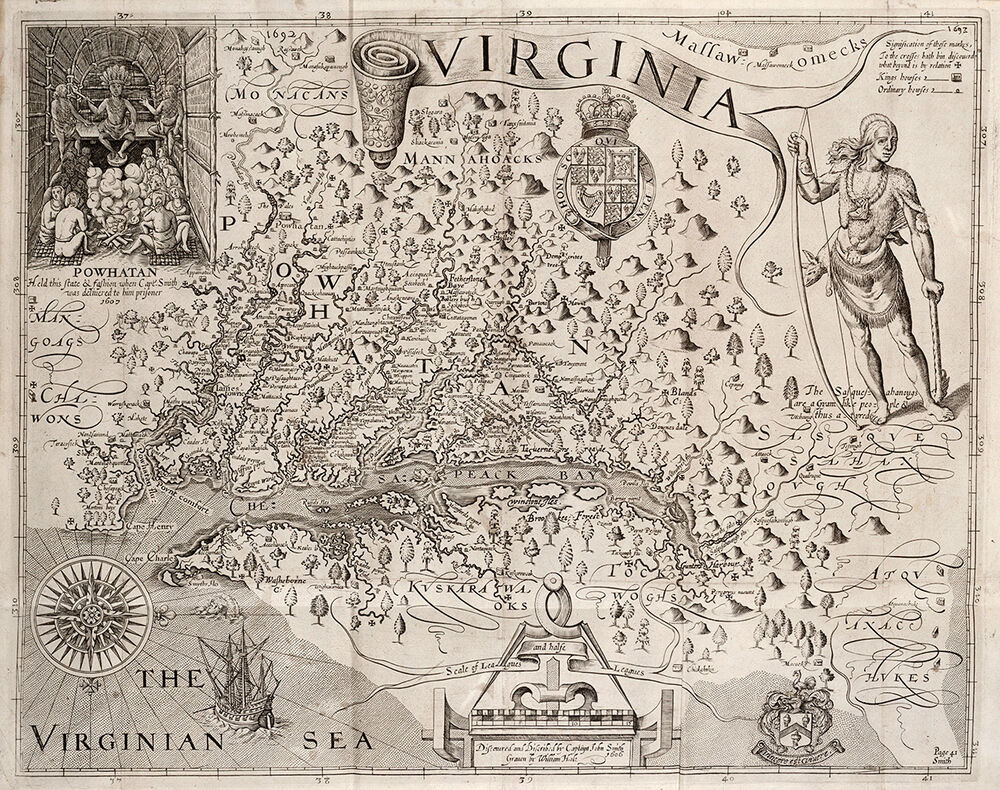Captain John Smith  QuotMap Of Virginiaquot 1612  Giclee