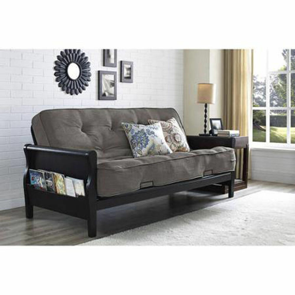 Convertible futon sofa bed couch full size mattress living room furniture new ebay Couch and bed
