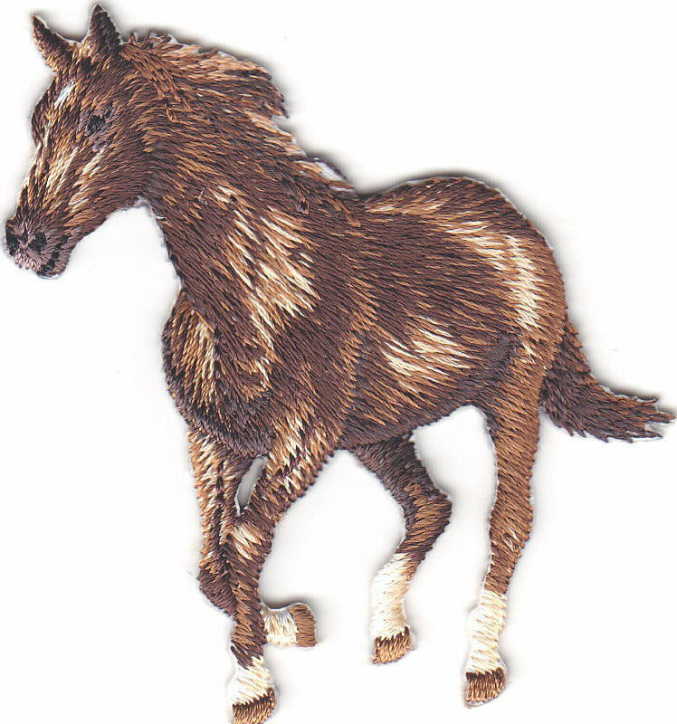 Horse animals iron on embroidered applique patch