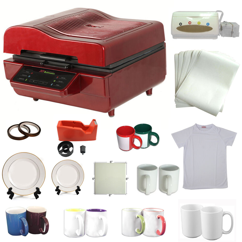 3d heat press machine sublimation ink transfer mug plate for T shirt printing machines