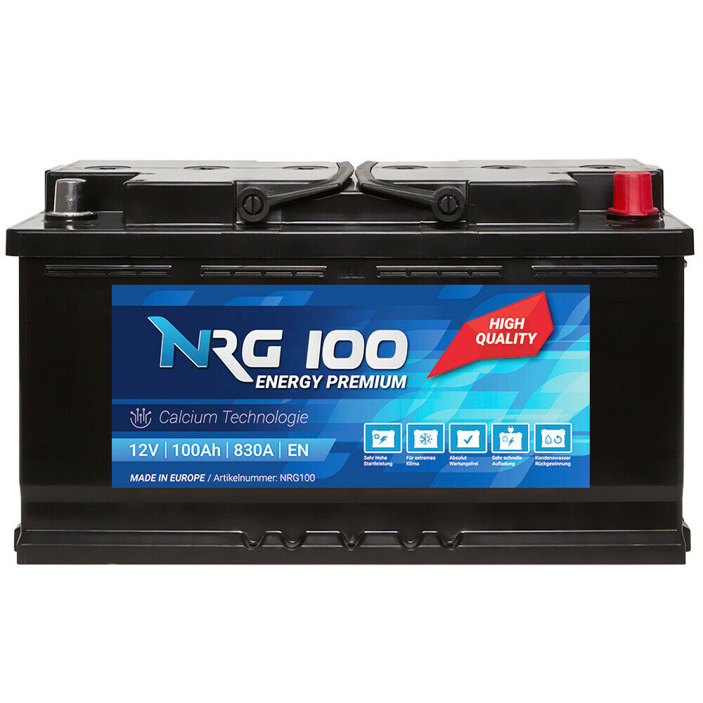 nrg premium autobatterie 12v 100ah ersetzt 85ah 88ah 90ah. Black Bedroom Furniture Sets. Home Design Ideas
