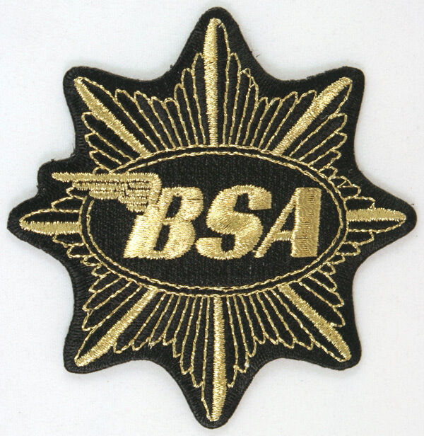 Biker Vest Patches >> BSA Motorcycles gold star patch, badge, Vintage, | eBay