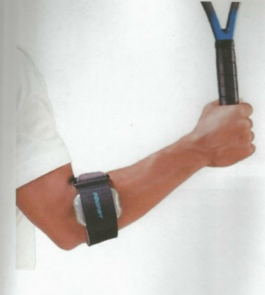 New aircast a tennis elbow pneumatic armband strap black