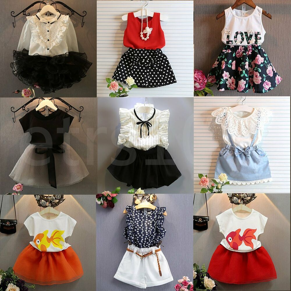 2pcs Flower Girl Kids Toddler Baby Princess Party Wedding Lace Tulle Tutu Dress Fashion Striped Strss For Girl Kids Clothes Set Girls' Clothing