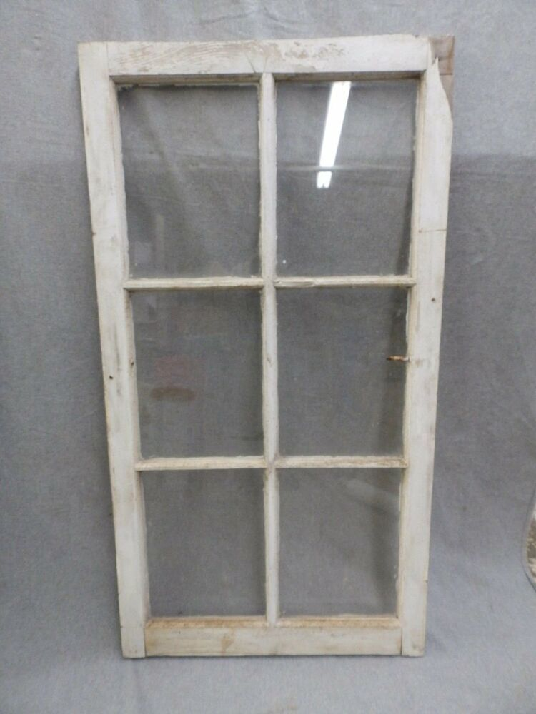 Vintage 6 Lite Casement Barn Porch Window Sash Shabby