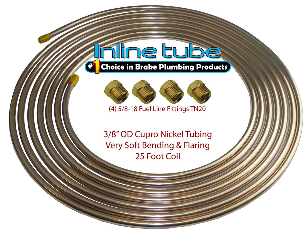 Copper nickel fuel line tubing kit od ft coil roll
