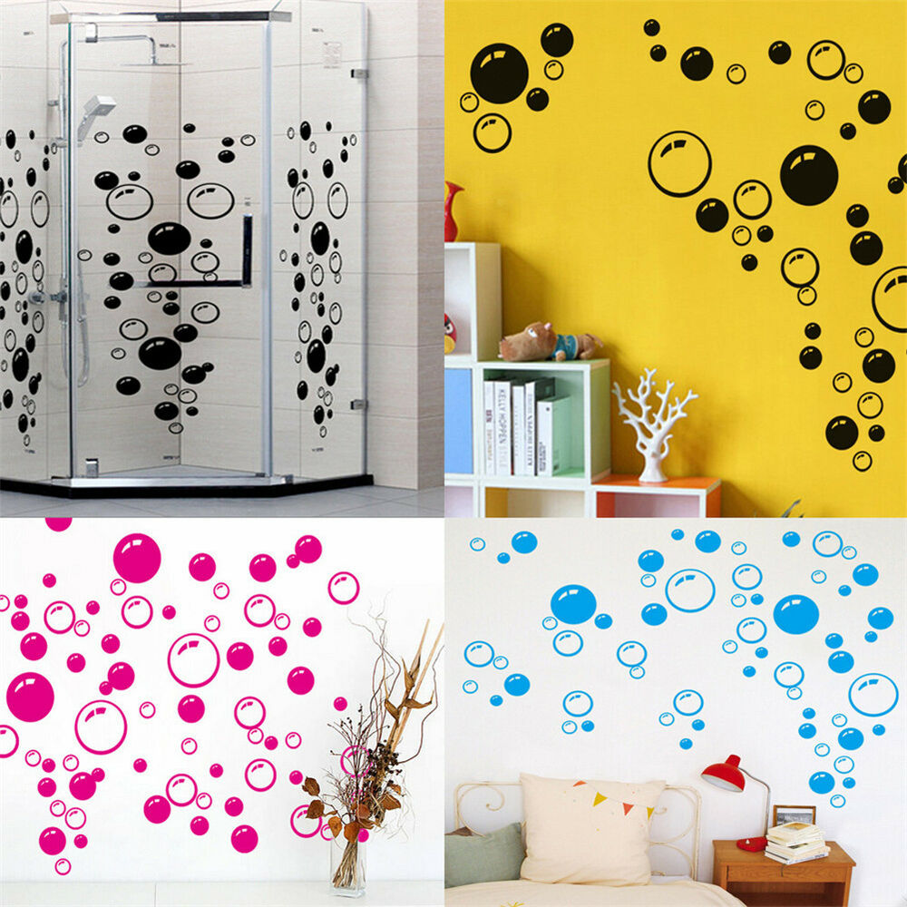 Wall sticker bathroom shower tile decor decal removable for Bathroom mural tiles
