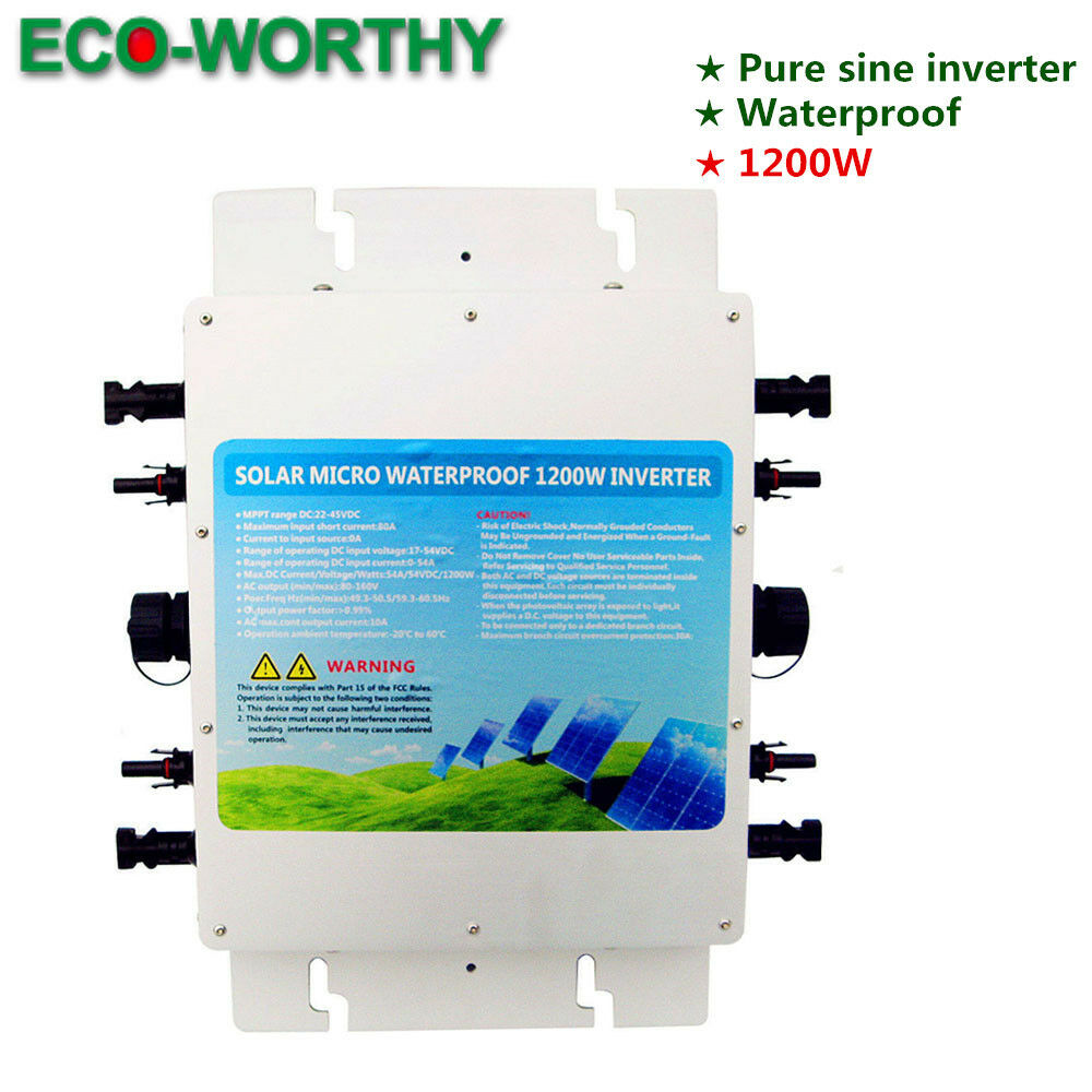 Eco 12kw 230v Ip65waterproof Grid Tie Inverter Pure Sine Wave 24v Design With Code Report Stable Output Ebay