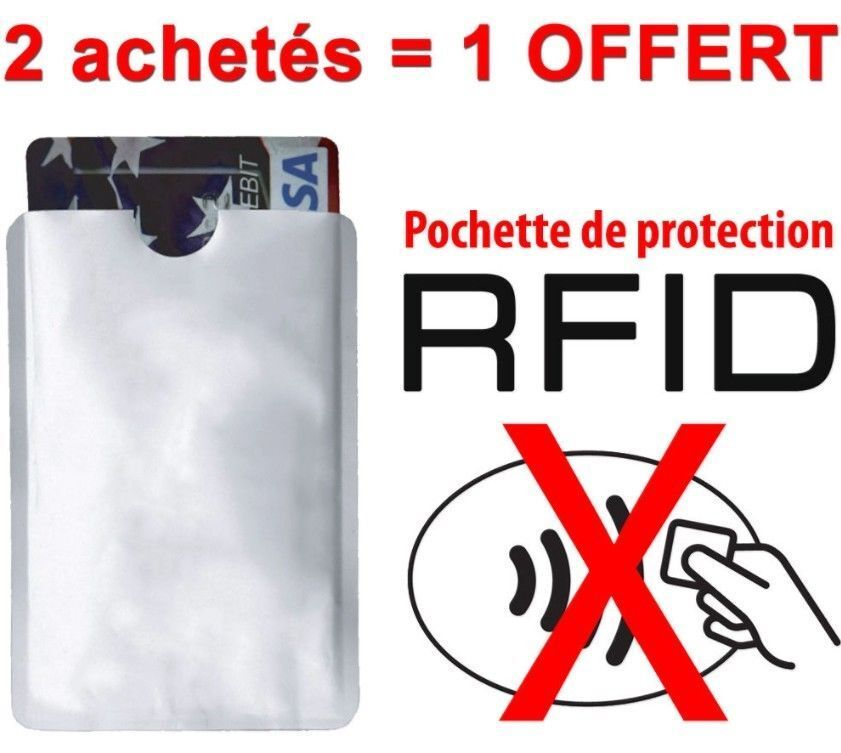 meilleurs prix hot-vente plus récent belle couleur Etui anti-piratage RFID NFC protection Carte bleue bancaire sans contact |  eBay