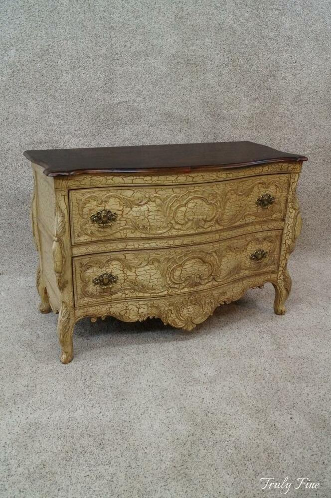 Foyer Console Cabinet : French louis xv commode demilune console chest entryway
