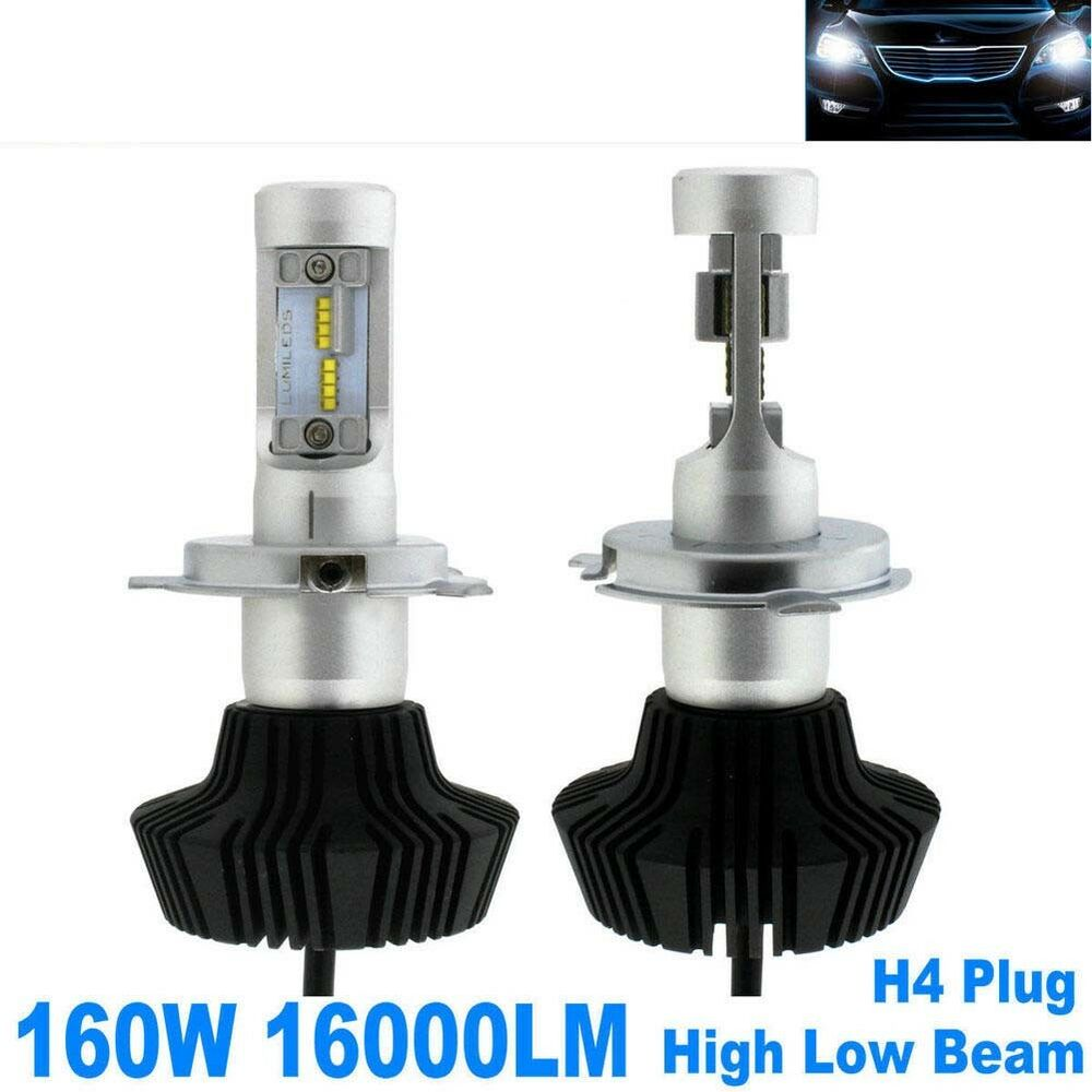 Pair 160w 16000lm Led Headlight Bulbs H4 9003 Plug Bulb