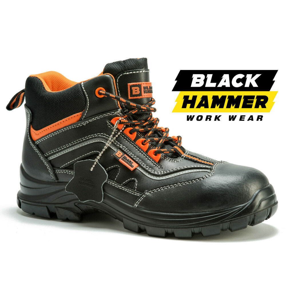 Black Hammer Leather Shoes