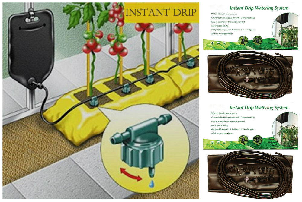 2x Instant Drip Watering Fed Gravity Irrigation Plants