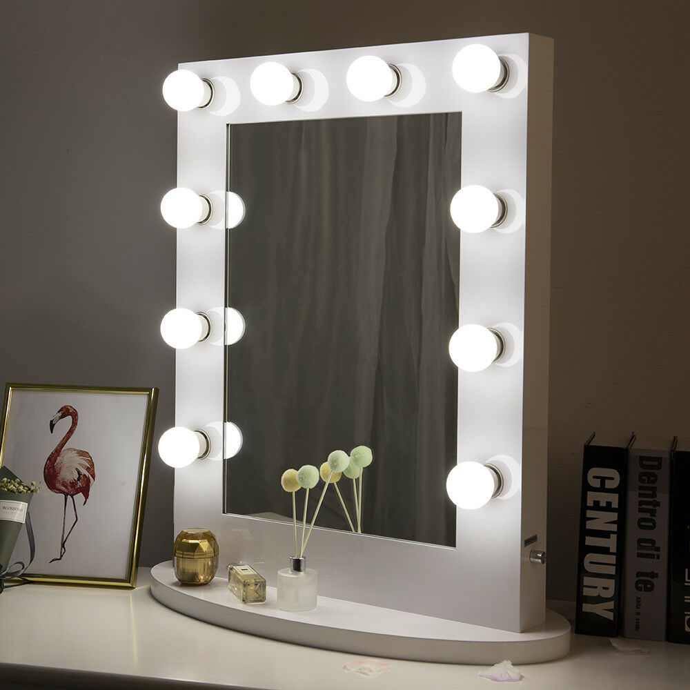 Vanity Hollywood Makeup Mirror With Lights Cosmetic Light Bulbs With Dimmer  Gift | EBay