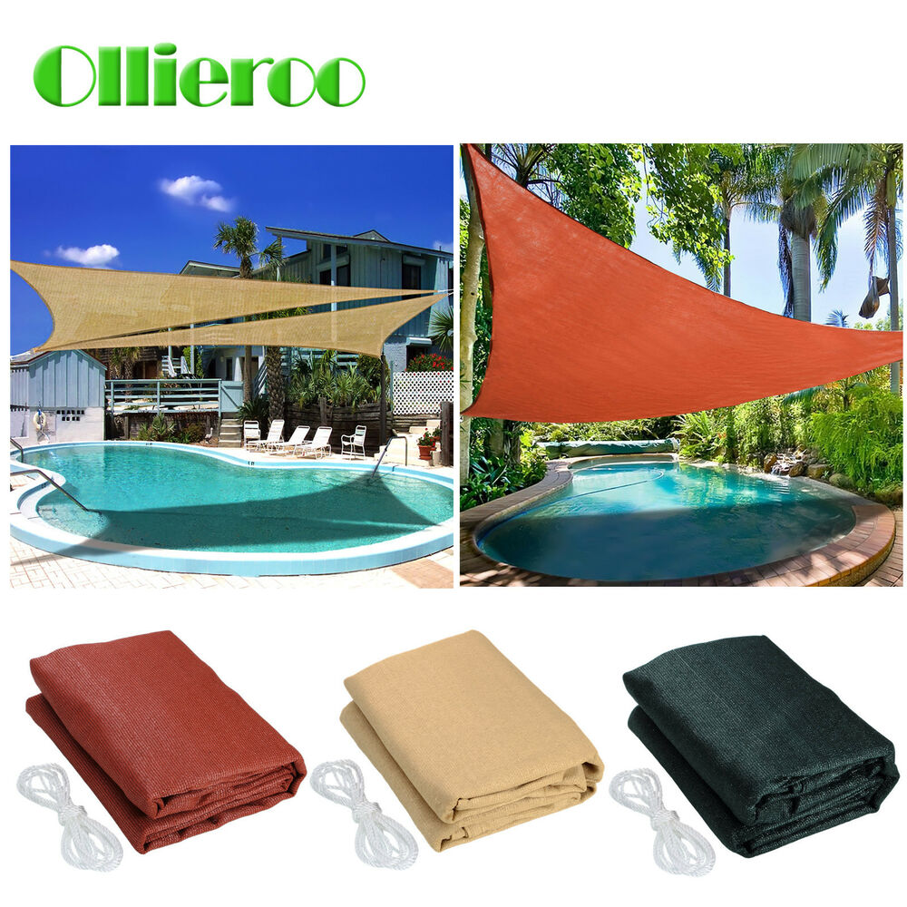 Ollieroo Sun Shade Sail Uv Top Outdoor Canopy Patio Lawn