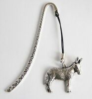 Donkey Lovers Bookmark in Fine English Pewter, Gift Boxed (ts)