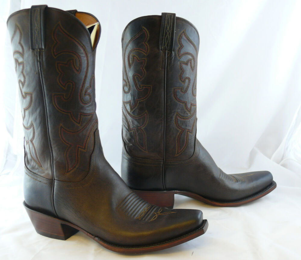 lucchese cowboy boots chocolate leather boots g9937 ebay