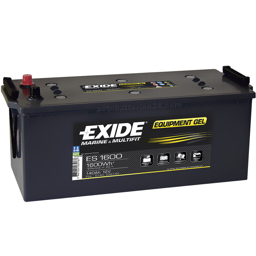 exide equipment gel es1600 12v 140ah g140 batterie. Black Bedroom Furniture Sets. Home Design Ideas