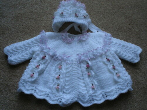 Free Teddy Knitting Patterns : BABY OR REBORN LACE AND BOWS KNITTING PATTERN eBay