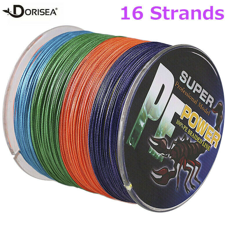 16 strands 100 2000m 20 300lb multi color hollow pe for 20 lb braided fishing line