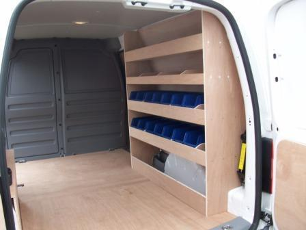 Caddy Maxi Binrack Van Storage Van Racking Plywood