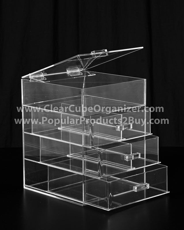 Image Result For Clear Acrylic Makeup Organizer Cube With  Drawers